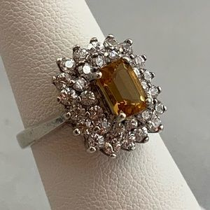 Jewelry - Citrine, Topaz & Sterling Silver Ring